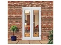 WHITE UPVC FRENCH DOORS WITH GLASS