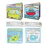 Baby Bath Books Plastic Coated Fun Educational Learning Toys for Toddlers & Kids (Set of all 4 Books