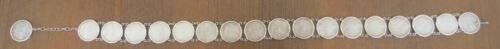 Vintage  Sterling Silver Bezel Morgan Silver Dollar Southwestern Conch Belt