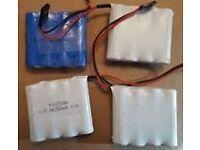 RC Receiver batteries (x4) - £5 each