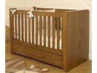 V.I.B. Dark Oak Moderno cot bed