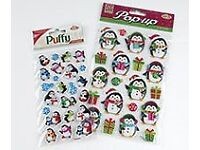 Funny Christmas penguin stickers