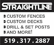 Straightline Fence, Deck and Post Hole Specialist London Ontario image 1