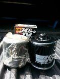 K&N oil filters and Honda oil filters