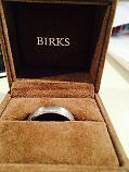 Like New 14k white gold men's wedding band from Birks