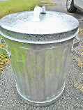 perfect, never used, 1950s galvanized steel garbage cans
