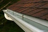 clean out your Eaves troughs Gutter system before winter.
