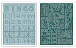 Tim Holtz Bingo & Patchwork 2-pack A2 embossing folders - $12