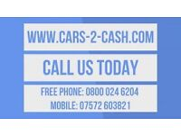 CARS VANS & 4X4S WANTED TODAY