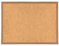 Premium Reinforced Framed Cork Notice Board 1200 x 900mm Message Pin Corkboard