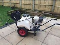 honda petrol pressure washer 120 liter water bowser , mobile unit , good condition, works great