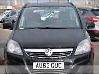 2013 Black Vauxhall Zafira with 4 Years Warranty, 7 Seater
