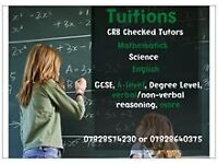 Biology Chemistry Physics Mathematics Classes all levels Science subjects Kingston Wimbledon Epsom