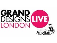 Grand Designs Live Tickets x 2