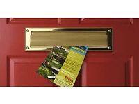Door-to-door leaflet delivery across London by knowledgeable, trustworthy Londoner