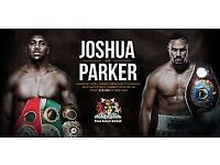 2 X Anthony Joshua Joseph Parker Boxing Tickets + HOTEL FLOOR SEATS!