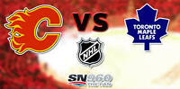 Calgary Flames vs Toronto Maple Leafs Tickets + Food Vouchers