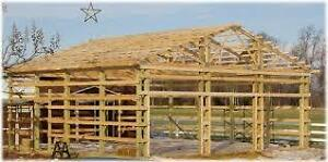 * Barns & Livestock Shelters Built *