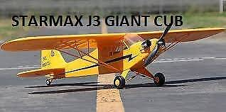 Crashed / Used Starmax Brand RC J3 Giant Piper Cub Fuselage