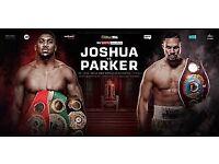Joshua vs Parker floor tickets £200 each