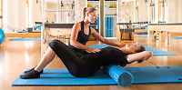 Pilates instructor in home