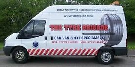 Tyre fitting/punctures/balancing/rim leaks repaired/batteries/bulbs/brakes-MOBILE SERVICE BRISTOL