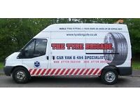 Tyre fitting/Puncture repairs/Balancing/Wheel rim corrosion problems/BRISTOL AREA MOBILE SERVICE