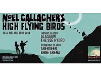 2x standing tickets for Noel Gallagher's High Flying Birds at Hydro Glasgow Tues 24th April
