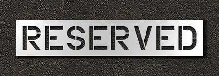 Rae Stl-116-71233 Pavement Stencil,Reserved,12 In