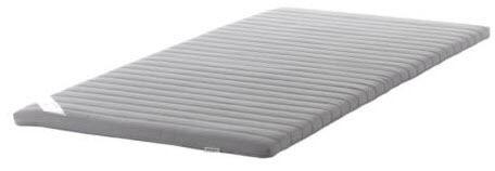 double mattress topper ikea sultan tarsta 140cmx200cm grey