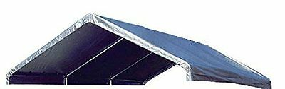 Premium Valance Replacement Canopy Tarp Carport Cover for 10 X 20 Frame- Silver