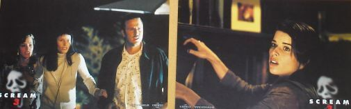 SCREAM 3 - Lobby Cards Set - Wes Craven, Neve Campbell, Courteney Cox - HORROR