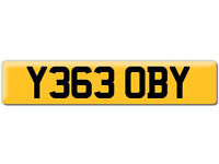 Y363 OBY Scooby OBI Preferential Personal number plate Cherished registration on Retention