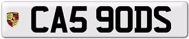 PRIVATE NUMBER PLATE... CA5 9ODS