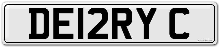 GREAT CHRISTMAS GIFT cherished reg DE12RY C (DERRY CITY) number plate DERRY CITY FC FOOTBALL CLUB