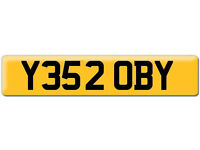 Y352 OBY YES ROBY TOBY Robert Preferential Personal number plate Cherished registration on Retention