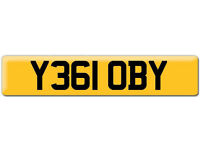 Y361 OBY Scooby OBI Preferential Personal number plate Cherished registration on Retention