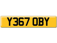 Y367 OBY Scooby OBI Preferential Personal number plate Cherished registration on Retention