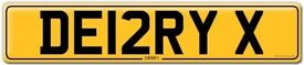 DERRY CHERISTED NUMBER PLATE FOR SALE DE12RY X CHRISTMAS GIFT