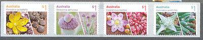Australia-Succulents 2017-Flowers mnh set-self-adhesive