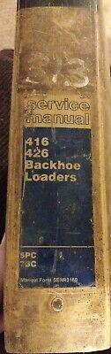 Cat Caterpillar 416 426 Backhoe Loader Shop Service Repair Manual 5pc 7bc
