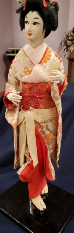 "16"" Vintage Japanese Geisha Doll  - no glass case Atlantis Collection 1982"