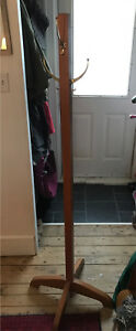 Old oak coat rack