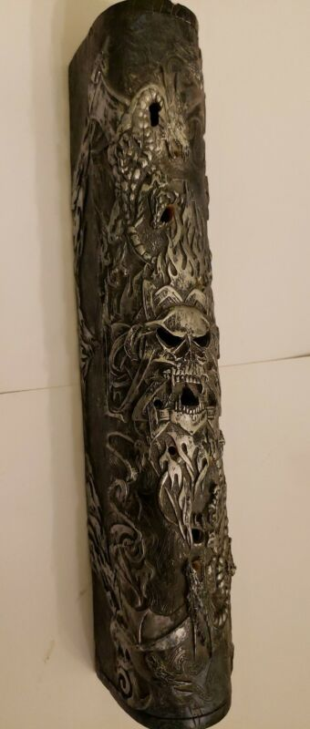 Gothic Medieval Dragon Head Incense Burner Box case stand skulls fire