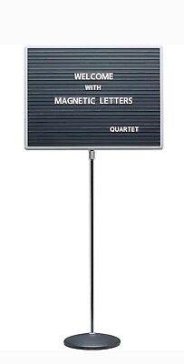 Quartet  Adjustable Single Pedestal Letter Board, 24