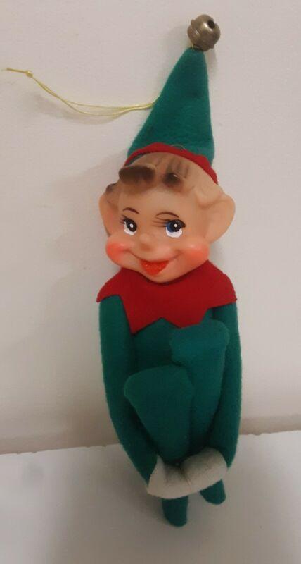 Vintage Christmas Ornament Elf Pixie Knee Hugger Made in Japan
