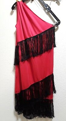 Womens Costume Flapper dress COSTUME BUST 34 CHEAP AND CHIC RED DRESS FRINGES
