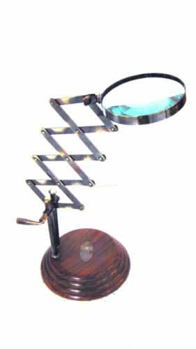 Nautical Antique Brass Vintage Collectible Home decor Magnifying glass
