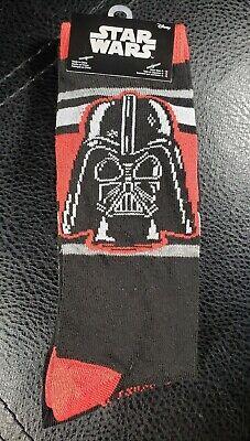 2 PAIRS Darth Vader  Socks Mens 6-12 STAR WARS EMPIRE JEDI FORCE new
