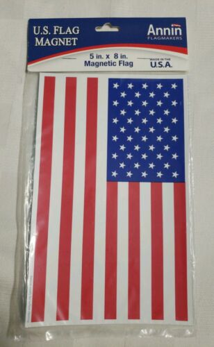 "Annin U.S. Maganetic Flag Decoration - Measures 5""x8"" -  Mad"